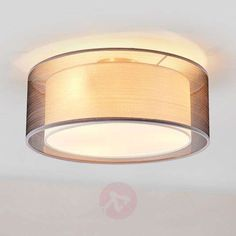 Nica fabric ceiling light in grey Fabric Shades, Grey Fabric, Fabric Ceiling, Apartment Balcony Decorating, Hallway Lighting, Light Fittings, Ceiling Design, Lampshades, Veils