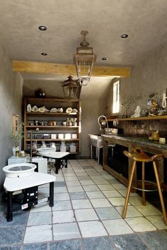 Jeremiah Brent's Pottery Room Makes Us Want to Channel Demi Moore – Hobbies paining body for kids and adult Ceramic Workshop, Pottery Workshop, Pottery Studio, Jeremiah Brent, Clay Studio, Ceramic Studio, Studio Room, Dream Studio, Demi Moore