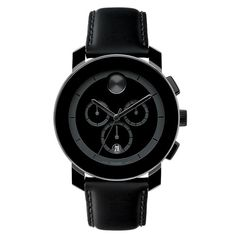 REEDS Movado Bold Large All Black Chrono Watch $495