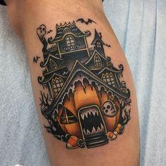 69 Best Halloween Tattoos Ideas For Men and Women - Page 3 of 3 - MindBlowra Sweet Tattoos, Dream Tattoos, Future Tattoos, Body Art Tattoos, New Tattoos, Cool Tattoos, Tatoos, Tattoo Drawings, Home Tattoo