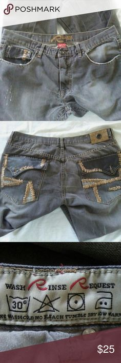 Request jeans Left rear pocket button missing Request Jeans Straight