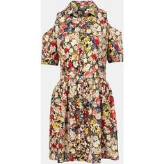 Topshop Floral Cutout Shirtdress ($92) ❤ liked on Polyvore