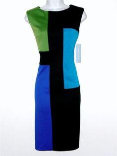 Color blocking dress 2018 calendar