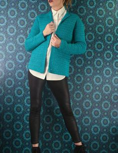 Check out this item in my Etsy shop https://www.etsy.com/ca/listing/491114189/vintage-turquoise-knit-cardigan-cover-up