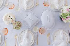 There is nothing better than seeing your registry come to life at home, and here is a look at my dinner table with everything I registered for, creating the perfect dinner party at my home. By Fashionable Hostess