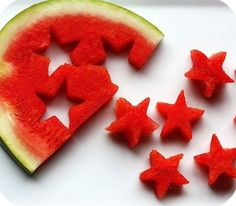 This is so easy and such a cute way to serve fruit. Use a cookie cutter to make the stars.
