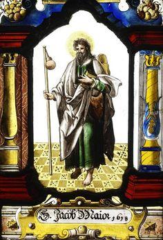 Vidriera del Apostol Santiago en el Victoria and Albert Museum de Londres.