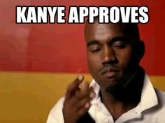 Hot GIF memes kanye west applause clapping yas approve