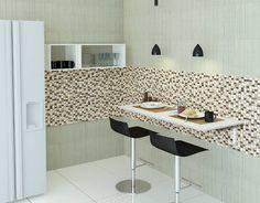 mesa de parede c/ suporte dobrável 40x90 cm- preta ou branca
