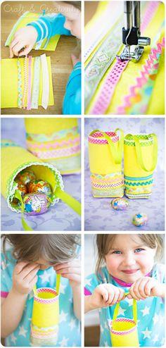 DIY - Easter Egg Hunt Bags.
