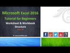 Microsoft Excel 2016 Beginner Course / Tutorials  - YouTube