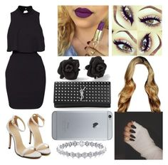 """""""Date Night"""" by aaliyahsalmon ❤ liked on Polyvore featuring Marc by Marc Jacobs and Yves Saint Laurent"""