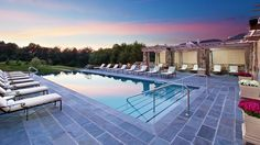 Outdoor pool and Spa Courtyard at the  Salamander Resort  Spa outside Washington, DC in Middleburg, VA