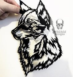 Wolf Head Paper Cutting Template Personal Use Vinyl Paper Cutting Templates, Stencil Templates, Cricut Stencils, Wolf Stencil, Stencil Wood, Stencil Art, Dog Template, Wolf Silhouette, Business Stationary