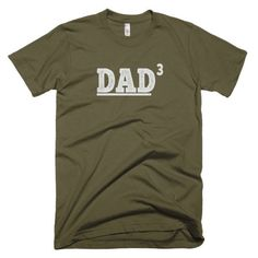 DAD 3 Husband Gift, Valentine's Gift, Father's Day Gift, New Dad Funny T shirt Short sleeve men's t-shirt