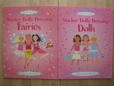 Sticker Dolly Dressing Lot 2 PB Books NEW Usborne Activities Fairies and Dolls