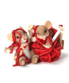 Yarn Tangle Mice Figurine by Charming Tails