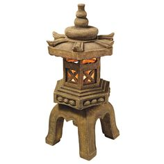 Found it at Wayfair - Sacred Pagoda Lantern Illuminated Statue