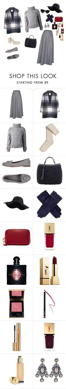 Grey outfit by bardoo on Polyvore featuring мода, Barbara Bui, MANGO, James Lakeland, H&M, n.d.c., Twin-Set, Bottega Veneta, Dents and Quay