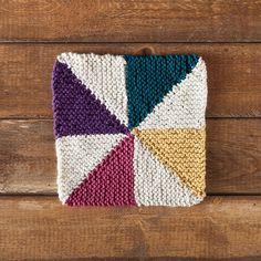 Free Dishcloth Pattern – Pinwheel Dishcloth
