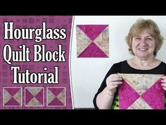 Quilting Blocks: Hourglass Quilt Block (aka Quarter Square Triangle) Tutorial - YouTube
