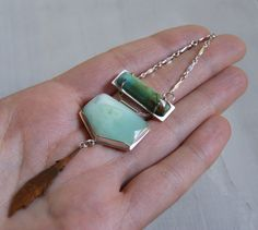 Turquoise and Chrysoprase necklace by Starving Artist Designs