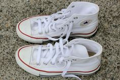 How to Clean White Converse. how ironic. I was just trying to wash my converse but it didn't work!! I will try this!
