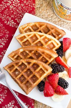 Slimming Eats Syn Free Classic Belgian Waffles - gluten free, vegetarian, Slimming World and Weight Watchers friendly