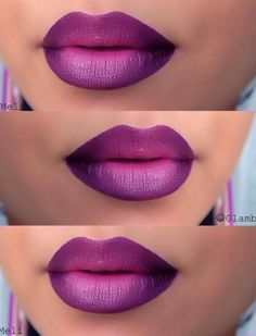 Ombre lips are the current rave! Check out these ombre lips and tutorials so you can have the most amazing lips ever.