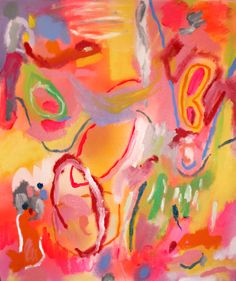 Being with you, 2013, acrylic and spray paint on canvas. SOLD