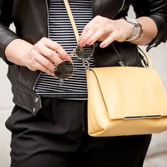 Black & Yellow. Shop this yellow minibag in #SALE. #blackandyellow  #PICARD…