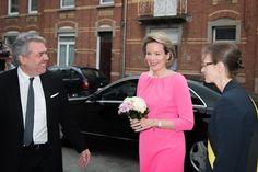 Queen Mathilde visits the Institute of Music in Namur.   26-4-2016