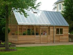 Garden Shed Greenhouse Combo - Bing Images #conservatorygreenhouse