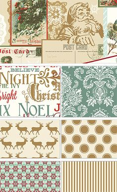 Postcards for Santa by My Mind's Eye for Riley Blake Designs—Subscribe to our newsletter at http://www.rileyblakedesigns.com/newsletter/