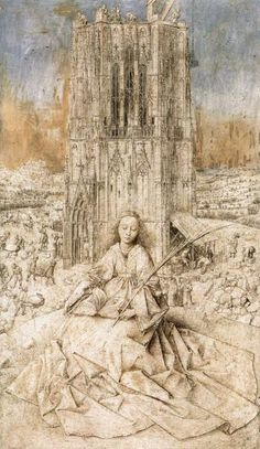 Jan van Eyck St. Barbara. 1437. Silverpoint on...