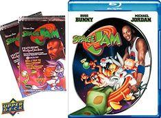SPACE JAM Trading Cards & Blu Ray Movie 2 Pack - Looney Tunes Space Jam Trading Cards starring Micha @ niftywarehouse.com