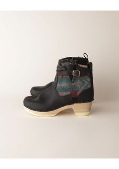 Wood, wool, and leather boots