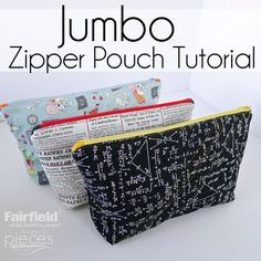 This easy Jumbo Zipper Pouch is the perfect pencil case to send your kids back to school with. (I don't know about you...but the little o...