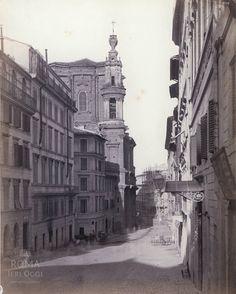 Via di Capo le Case (Parker, 1869-77) In fondo alla Via la Chiesa di Sant'Andrea delle Fratte.