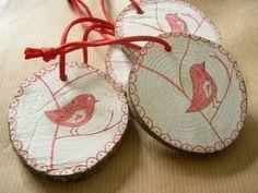 Tags de madeira  via: Cathy Savels