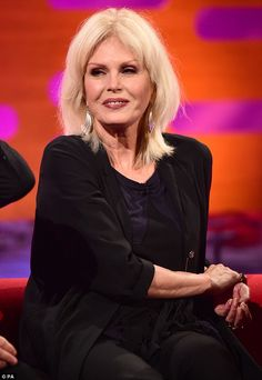 Reminiscing: Joanna Lumley talked about the 'anxious' moment she shared with Leonardo DiCaprio, when they were required to kiss on screen for their roles in 2013 movie The Wolf Of Wall Street