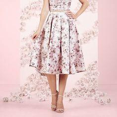 LC Lauren Conrad Runway Collection Floral Jacquard Midi Skirt - Women's