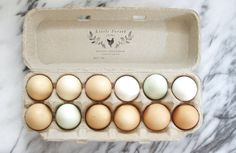 Egg Carton Stamp - Fill in the Blank - Fresh Eggs Stamp - by Substation Paperie