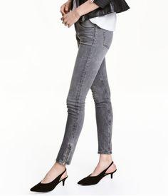 Skinny Low Jeans | Grå denim | Dame | H&M DK