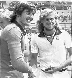 Adriano Panatta and Bjorn Borg