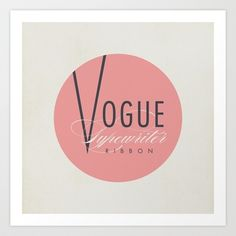 "Vintage Typewriter Tin Lids Series: ""Vogue"" Art Print by Justin Skeesuck - $15.60"