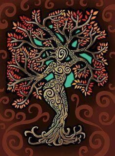 another tree Tree 2 Tree Of Life Art, Tree Art, Tree Of Life Painting, Pagan Art, Goddess Art, Celtic Art, Book Of Shadows, Mother Earth, Fantasy Art