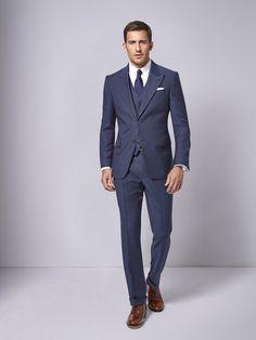 Der moderne Klassiker mit schlanker Linie. Ein Dreiteiler sollte in keinem Kleiderschrank fehlen, denn er bietet vielfältige Kombinationsmöglichkeiten.