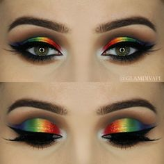 Check out our favorite Glossy Rainbow inspired makeup look. Embrace your cosmetic addition at MakeupGeek.com!