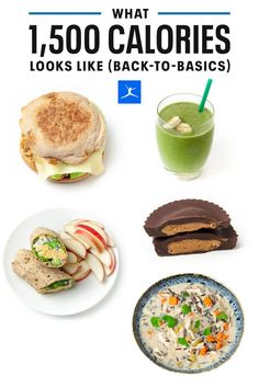 Get back to basics with this low calorie meal plan. These easy-to-make recipes will help you get back on track and full of nutrition building blocks - lean proteins, slow-digesting carbs, healthy fats and colorful veggies. From an egg sandwich to a healthy soup, to a plant-based snack, green smoothie, and 5 ingredient healthy peanut butter cups. Practice portion control with this 1500 calorie day meal plan. #MyFitnessPal 1600 Calorie Meal Plan, 1500 Calorie Diet, Low Carb Meal Plan, Low Calorie Smoothies, Low Calorie Snacks, Low Calorie Recipes, Healthy Recipes, Easy Meal Plans, Diet Meal Plans